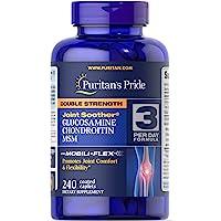 Puritans Pride 普丽普莱 双重强度葡萄糖胺,有益于女士关节的软骨素,240粒