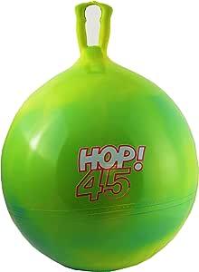 Gymnic Hop 45!蓝色和黄色漩涡(*)45.72cm 跳球马蒂玩具停止*颜色 (68-24)