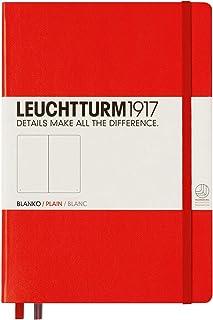 LEUCHTTURM1917 灯塔中开无格笔记本红色硬封皮(A5)
