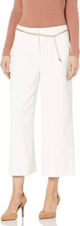 Tahari ASL 女式短款阔腿裤,带链带