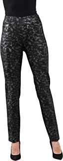 女式套穿直筒裤 80 cm 内缝 黑色 银色 青灰色 佩斯利印花