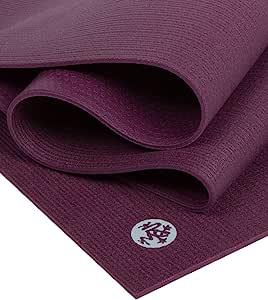 "Manduka PROlite 瑜伽垫 - 优质 4.7 毫米厚垫,环保,环保,环保纺织认证,不含任何化学物质。 高性能抓地力、超厚缓冲垫,可在瑜伽、普拉提、健身房和任何一般健身时提供支撑和稳定性。 Indulge 79\""(Logo颜色变更,请以到货为准)"