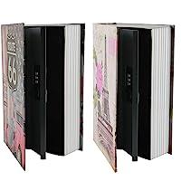 KYODOLED 词典分割*书,秘密书本*,带密码锁,金钱隐藏盒,9.5 x 6.1 x 2.2 英寸(约 24.1 x…