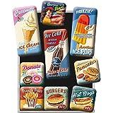Nostalgic Art 磁贴套装 9 件套,美国餐厅,小号