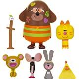 Hey Duggee 1988 朋友玩偶套装,包括Duggee,Stick,顽皮的猴子,鸡,老鼠,兔子和小猫Enid,这…