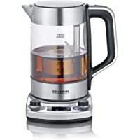 "SEVERIN Tea Maker ""Professional"" 带自动休眠功能,玻璃烧水壶可容纳 1.7 升,带温度设…"