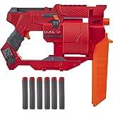 Hasbro 孩之宝 NERF 热火 Halo Mangler 飞镖冲击枪-回力启动手柄,可旋转的6飞镖鼓-包括6支Ne…