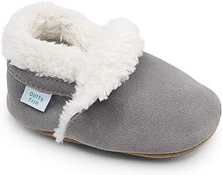Dotty Fish 中性款婴儿麂皮拖鞋