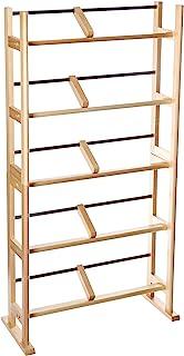 Atlantic 元素媒体存储架-可容纳230张Cd或150张Dvd,当代木材和金属设计,宽脚可提供更高的稳定性,枫木色 PN35535687