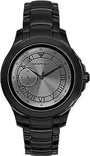 Emporio Armani 安普里奥·阿玛尼 男式连衣裙智能手表 2 带 Wear OS 支持 Google 智能手表 心率、GPS、NFC 和智能手机通知