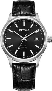 NEYMAR 40 毫米男士日本自动 200 米不锈钢手表匹配意大利皮革表带