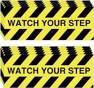 10 件观看您的步伐警告贴纸,3 x 8 英寸(约 7.6 x 20.3 厘米)胶带 防滑砂带 适用于工作场所的*湿地板警告