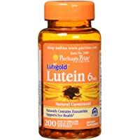 Puritans Pride Lutein 6 Mg With Zeaxanthin Softgels, 200 Cou…