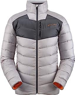 Spyder 男士永恒羽绒服 – 镶片蓬松轻质全拉链外套