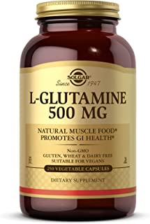 Solgar L-谷氨酰胺 500 毫克 250 粒素食胶囊