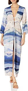 Kenneth Cole New York 女式可调节前系带和服连衣裙泳衣罩衫