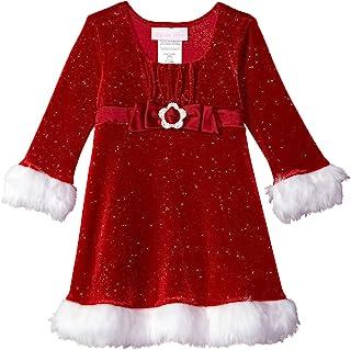 Bonnie Baby 女童圣诞连衣裙