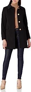 T Tahari 女式经典单排扣羊毛大衣