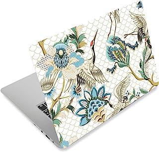 笔记本电脑皮肤贴纸封面贴花适合 12 13 13.3 14 15 15.4 15.6 英寸笔记本电脑保护膜笔记本 | 易于应用、拆卸和改变风格 Cranes and Flowers RI-NEK