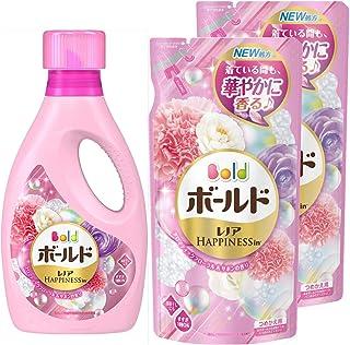【量贩装】Bold 液体 含有柔软剂 洗衣液 香薰花 & 肥皂 主体 850g+替换装 715g×2包