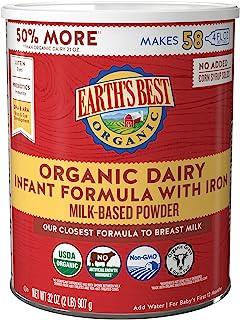 Earth's Best 婴儿配方奶粉 含铁、Omega-3 DHA 、Omega-6 ARA 35盎司(992克)