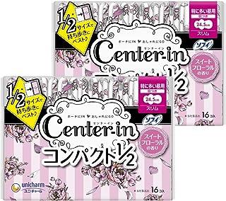 Centin 便携型1/2 Sweight 量多白天用 带护翼 32片(16片×2)〔生理用卫生巾 细长〕