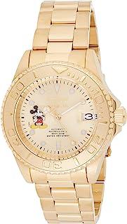 """Invicta 男式""""Disney 限量版""""自动不锈钢休闲手表,颜色:金色调(型号:22779)"""
