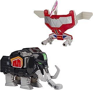 Power Rangers Mighty Morphin Mastodon Dinozord 和翼龙Dinozord 玩具 2 件装可动公仔 恐龙战士的一部分 适合 4 岁及以上儿童