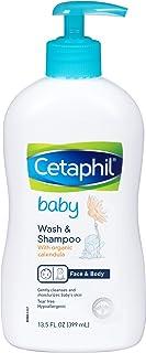 Cetaphil 婴儿洗和洗发露与有机金盏花,221.1gram