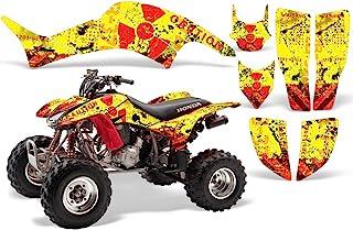 AMR Racing ATV 图形套件贴纸贴花与本田 TRX 400EX 1999-2007 兼容 - 熔化红黄