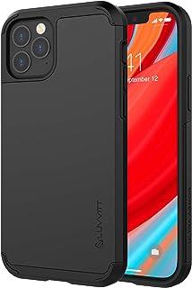 Luvvitt Ultra Armor 手机壳专为 iPhone 12 和 iPhone 12 Pro 设计,配有磁性支架可拆卸金属板(不包括汽车手机支架),适用于 Apple iPhone 12/12 Pro 6.1 英寸 - 黑色