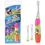 Brush-Baby KidzSonic 电动牙刷 3-6 岁 包括3个更换头和1个AAA电池