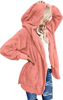 lookbookstore 女式超大款开襟连帽口袋开衫外套
