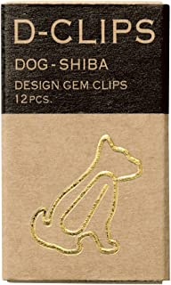 MIDORI D-clips mini盒装(12枚)柴犬 回形针