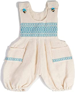 IOC * *棉手工墨西哥连体衣 - Jalisco 墨西哥工匠爱心制作,是新生儿男孩的完美服装配件,可爱且合身