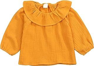 JEELLIGULAR 女童套装 1-5 岁长袖褶皱领衬衫,冬季服装,适合儿童女婴