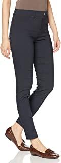 [Gunze 郡是] 弹力裤 Tuche 打底裤 绑腿裤 紧身款式 WW Wonder Warm 带裤袢 人造丝混纺 内起绒 全长裤 女款