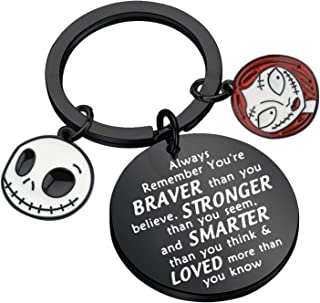 AKTAP 圣诞夜惊魂钥匙链 Jack Skellington & Sally Jewelry You're Braver Than You Believe