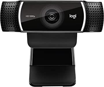 Logitech HD Pro 网络摄像头 C920,1080p 宽屏视频通话记录960-001176 C922X Webcam