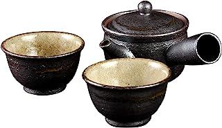 山庄陶器 信乐烧 Sumi‐iro 双人茶器 Sum-3