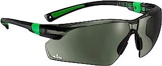 NoCry 工作和运动*太阳镜,带*有色防刮环绕式镜片和防滑握把,UV 400 保护,可调节,黑色和*框架