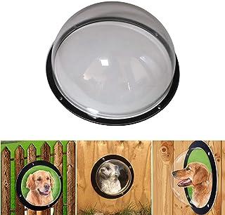 CALIDAKA 狗栅栏窗亚克力狗圆顶围栏透明窗户宠物窥视窗宠物视窗宠物围栏气泡窗适用于宠物和狗窥视清晰视野