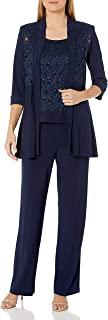 R&M Richards 女式蕾丝裤套装