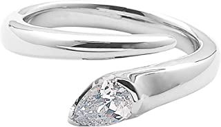 PINKY &Dian] 立方氧化鋯 鍍銠銀 戒指 VFRPD50399 白色 14號