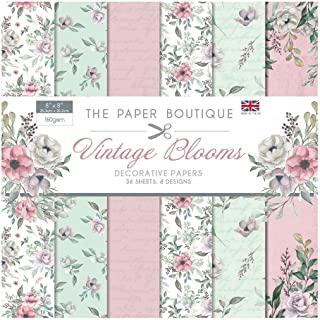 Paper Boutique 复古花朵纸垫,粉色和*,20.32 x 20.32 厘米