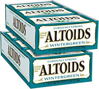 ALTOIDS 经典冬青薄荷糖清新口气含片,1.76盎司锡,50克(12包)