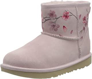 UGG 中性儿童经典迷你花朵时尚靴