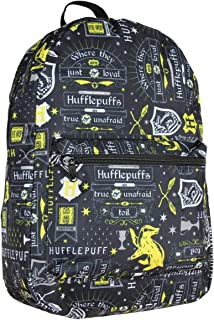 哈利波特 Hufflepuff House Motto 升华笔记本电脑背包 书包