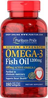 Puritan's Pride 普丽普莱 双倍强度欧米茄-3鱼油1200毫克,180支