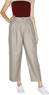 American Apparel 女士斜纹褶边裤